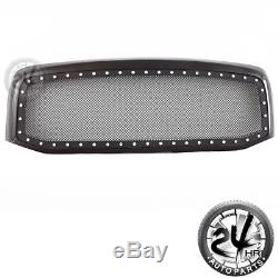 06-08 Dodge Ram Grille Rivet Black Stainless Steel Wire Mesh With Glossy ABS Shell