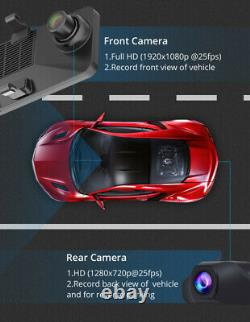 1080P HD 12 Android 8.1 4G WIFI 2CH Car GPS Rearview Mirror Dash Cam Recorder