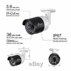 1080P HD Video 8CH 1080P DVR Home IR Security Camera System H. 264+ CCTV 2TB