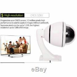 1200TVL CMOS Outdoor 30X Zoom Waterproof PTZ Speed Dome Camera Motion Activated