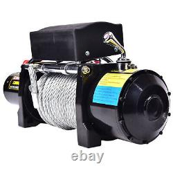 13000LBS 12V Electric Recovery Winch Truck Wire Rope SUV 4WD Remote Control USA