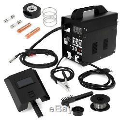 130 MIG Welder Flux Core Wire Automatic Feed Welding Machine with Free Mask Kit