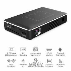 2020 DLP 5000 Lumens Android Wifi 4K HD 1080P Home Theater Projector 2G+16G HDMI