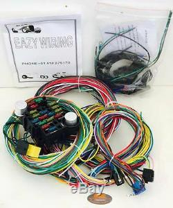21 Circuit Universal Wiring Harness / Loom Eazy Wiring Suit ... on universal wiring harness kit, universal hot water heaters for cars, universal painless wiring harness, universal wiring harness diagram, universal hot rod motor mounts, universal gm wiring harness, universal hot rod mirrors,