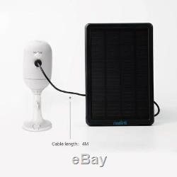 2x Wireless WiFi IP Camera HD 1080P Rechargeable Reolink Argus Pro + Solar Panel