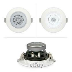 3 Bluetooth Ceiling/Wall Speakers, 4 2-Way Speakers with Built-in LED Light