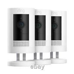 3 Pack Ring Stick Up Cam Indoor/Outdoor Home Security Camera Battery Wire Free