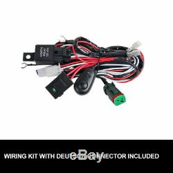42 inch LED Work Light Bar Triple Row Combo Beam Offroad Driving withDT Wiring Kit