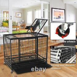 46 Pet Dog Cage Heavy Duty Strong Metal Wire Crate Kennel Playpen for Training