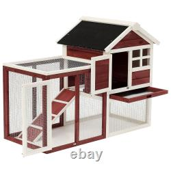 48 Outdoor Ferret Home Cage & Play Area with Thick Wire Safety Enclosure, Brown