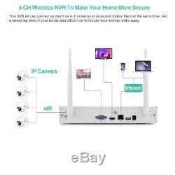 4CH Wireless HDMI NVR Outdoor IP IR Camera CCTV Home Security Video System 1080P