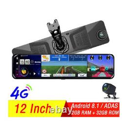 4G wifi Car DVR backup mirror with dual Cameras Android dash cam GPS navigation