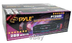 4 PYLE PLMR24 200W Outdoor Speakers + PT260A 200W Stereo Theater Receiver