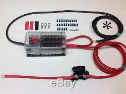 5mtr Professional Split Charge Kit + 12 way fuse box for camper van wiring