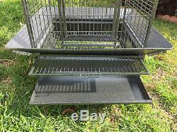 64 Large Bird Parrot Open PlayTop Cage Cockatiel Macaw Conure Aviary Finch 150