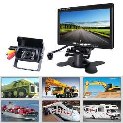 7 Monitor + 4 X Wireless Rear View Backup Night Vision Camera for RV Truck Bus