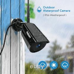 8CH Audio Wireless Camera 1080P Outdoor Indoor WIFI CCTV Security System HD NVR