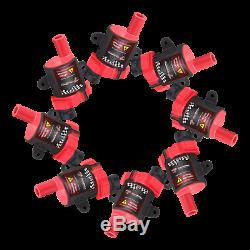 8 Pack Ignition Coils + Spark Plug Wires Set For Chevy Silverado GMC D585 UF-262