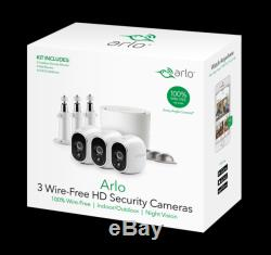 Arlo Wire-Free Security System with 3 HD Camera (VMS3330) with Base
