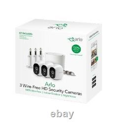 Arlo Wire-Free Security System with 3 HD Camera (VMS3330) with Base BRAND NEW