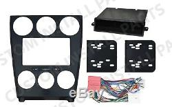 Black Double Din Dash Kit Mount Radio Stereo Wiring Harness Install fits Mazda 6