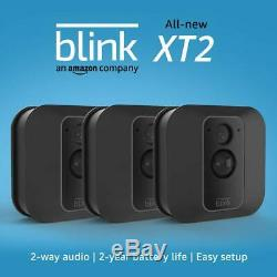 Blink XT2 3-Camera Indoor Outdoor 1080p Smart Home Security System With Storage