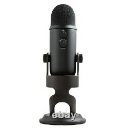 Blue Yeti Microphone Blackout with Boom Arm Stand Pop Filter and Shock Mount