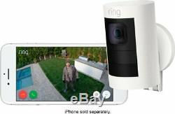 Brand New Ring Stick Up Indoor/Outdoor Battery Powered Security Camera White