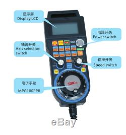 CNC Mach3 Handwheel 6 Axis Wired USB MPG Controller Electronic Manual Pendant 5M
