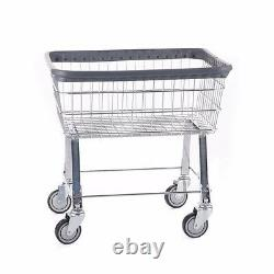 Commercial Wire Laundry Basket Cart! New