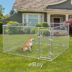 Dog Kennel Steel Wire Outdoor Heavy Duty Pet Cage Pen Run House Galvanized Fence