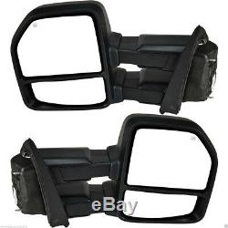 FOR 15-17 Ford F150 Pickup Towing Mirrors 8-PIN Power Heated LED Signals Pair
