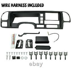 FOR 1995-02 GMC Truck SUV Radio Stereo Double Din Dash Kit Panel Wire Harness