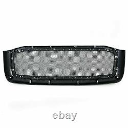 Fit Dodge Ram 2006-2008 Truck Black Stainless Steel Rivet Wire Mesh Grill Shell
