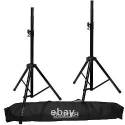 Gemini AS-15P 15 Powered/Active DJ PA Speaker Pair + Cables + Stands