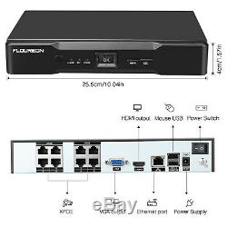 IP66 8CH XPOE 1080P 2MP Home Security Video Recorder Night Vision Cameras System