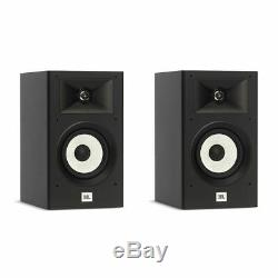 JBL Stage A130 Bookshelf Home Theater Audio Loudspeaker System- Pair (Black)