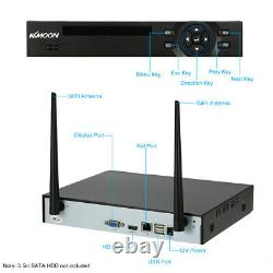KKMOON 4CH Wireless 1080P NVR 720P Outdoor WIFI IP Camera CCTV Security System