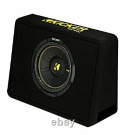 Kicker 10 600W Car Audio Subwoofer Enclosure and 1000W Amplifier with Wiring Kit