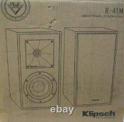 Klipsch Reference R-41M Monitor/ Bookshelf Speakers! SET OF 2! NEW IN BOX