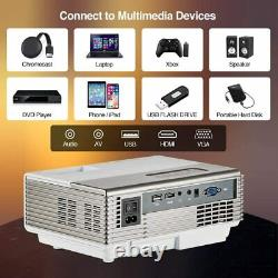 LED Smart Android 7.1 Home Theater Projector Full HD 1080p Wifi BT Video Movie