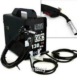 MIG 130 Welder Flux Core Wire Automatic Feed Welding Machine With Cool Face Mask