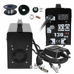 MIG 130 Welding Machine Welder Gas Less Flux Core Wire Automatic Feed with Mask