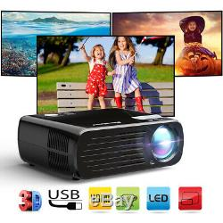 NEW 7000LM Portable FHD 1080P 3D LED Projector Multiscreen Home Theater HDMI VGA