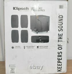 New OB Klipsch Reference Theater Pack 5.1 Channel Surround Sound System BLACK