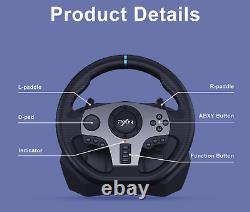 PXN V9 Racing Steering Wheel with Shifter for PC/PS3/PS4/Xbox one/Switch 900deg