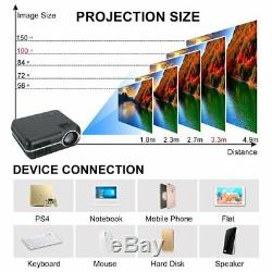 Portable Android HD 1080P 3D Multimedia Projector LED Home Theater HD2 USB2 US
