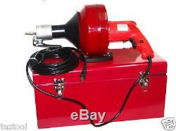 Portable Electric Snake Drain Plumbing Cleaner Auger Unclog Wire Drainer CMT