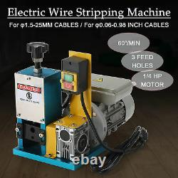 Portable Powered Electric Wire Stripping Machine Cable Stripper Metal Tool Scrap
