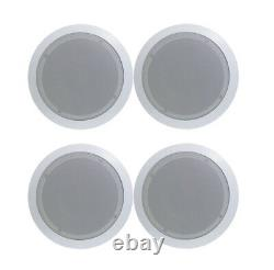 Pyle PDIC81RD 8 Round Flush Mount Wall/Ceiling Home Speakers, 250W each, 4 pack